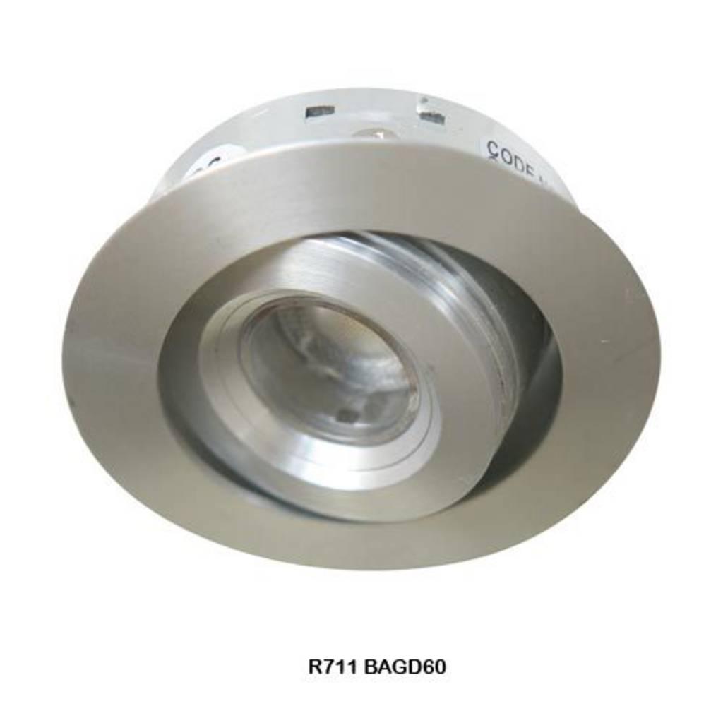 2 Watt 268mm 240 Volt Led Strip Light Fitting: Round 1.2 Watt LED Stair/Cabinet Light