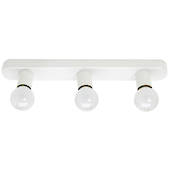 Hollywood Three Light White Mirror or Wall Light